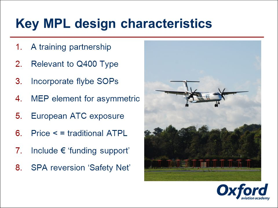 2. Our MPL Course - designed with our UK partner airline
