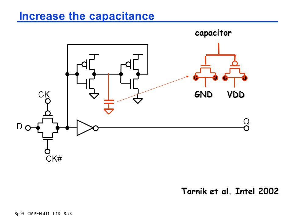 Sp09 CMPEN 411 L16 S.28 Increase the capacitance Tarnik et al.