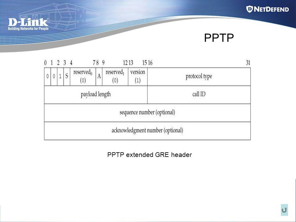 PPTP PPTP extended GRE header