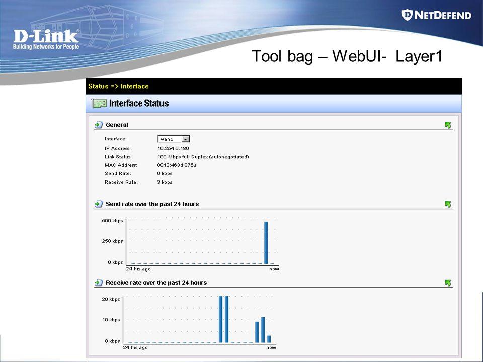 Tool bag – WebUI- Layer1