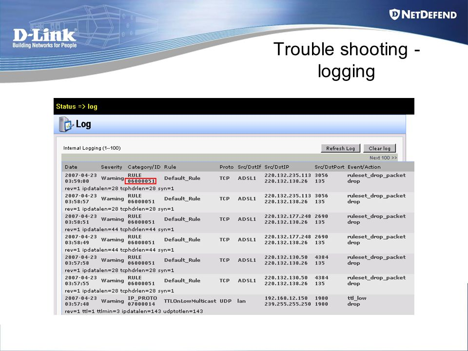 Trouble shooting - logging