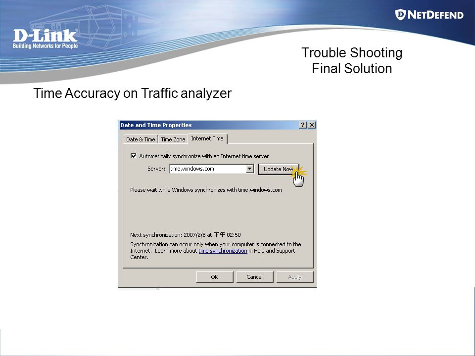 Trouble Shooting Final Solution Time Accuracy on Traffic analyzer