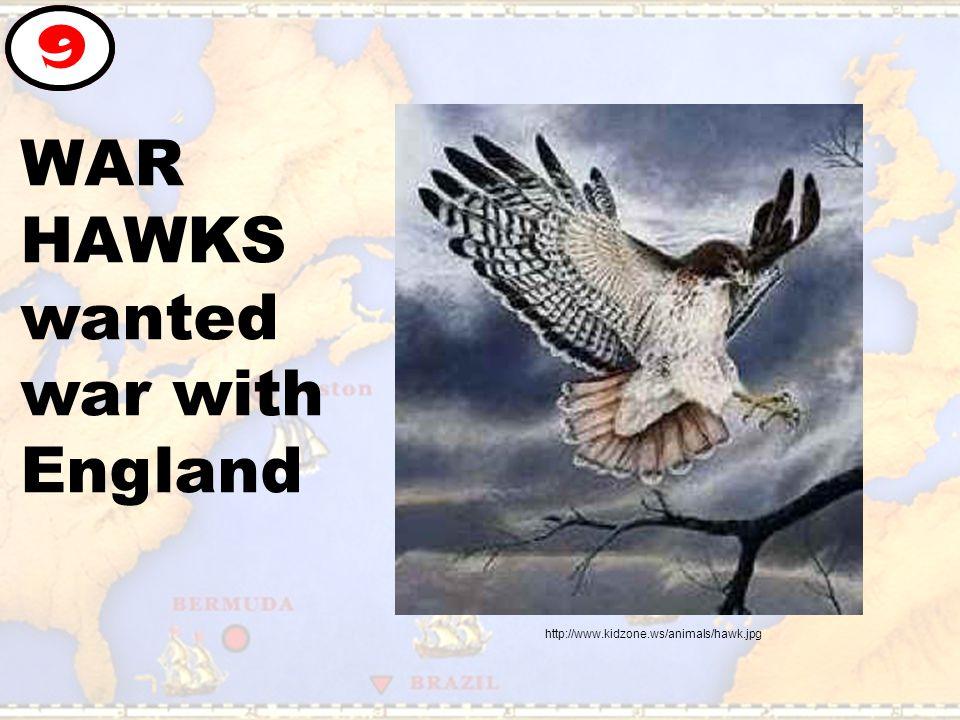 WAR HAWKS wanted war with England 9 http://www.kidzone.ws/animals/hawk.jpg