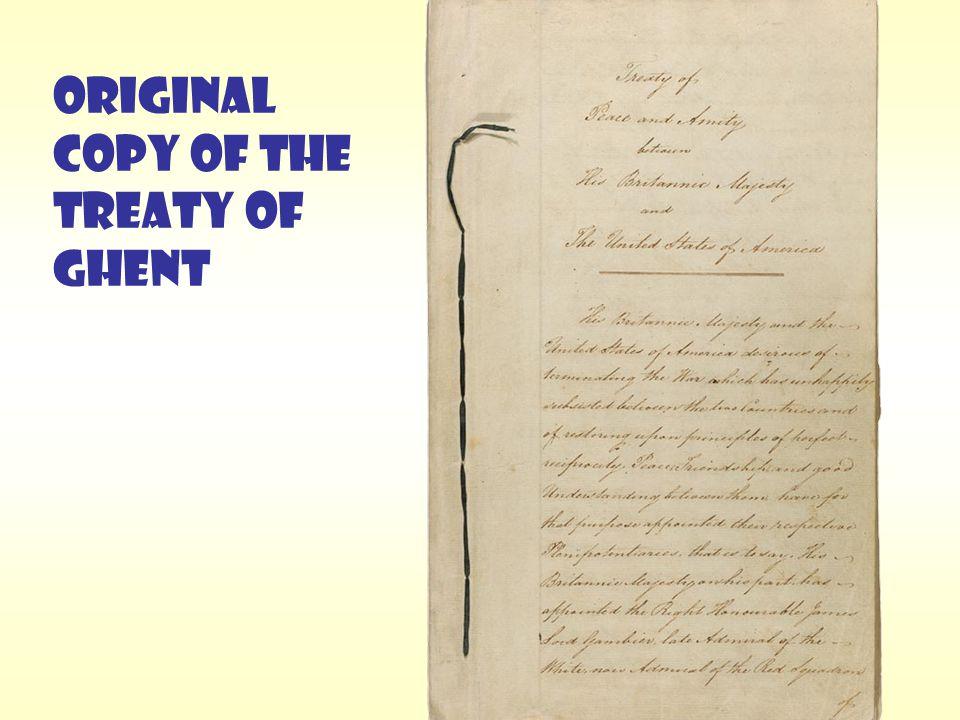 ORIGINAL COPY OF THE TREATY OF GHENT