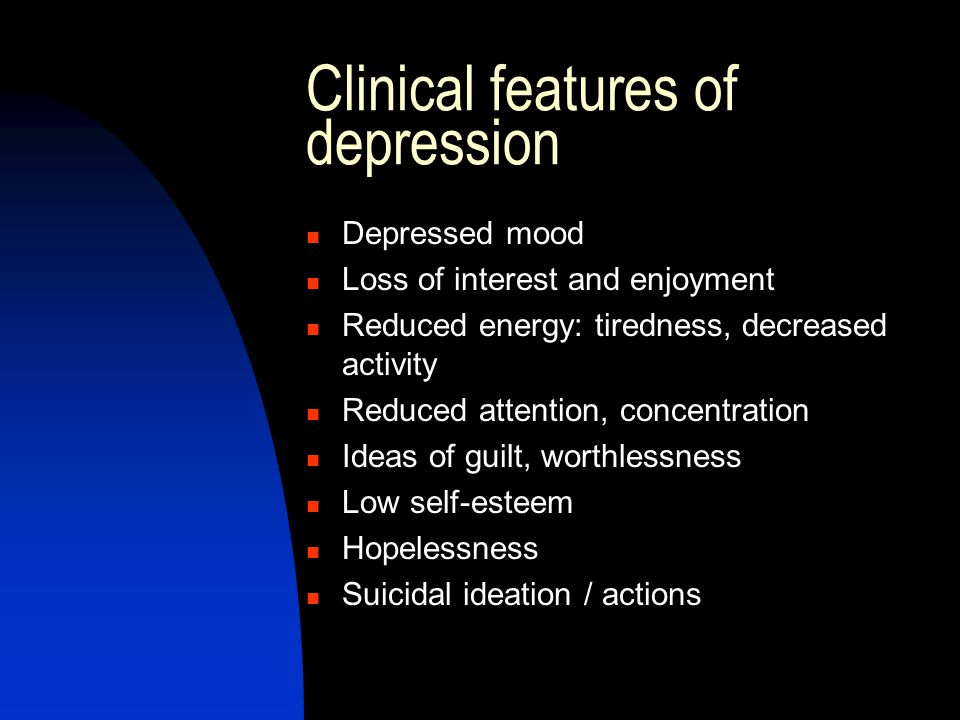 What help is available for depression.