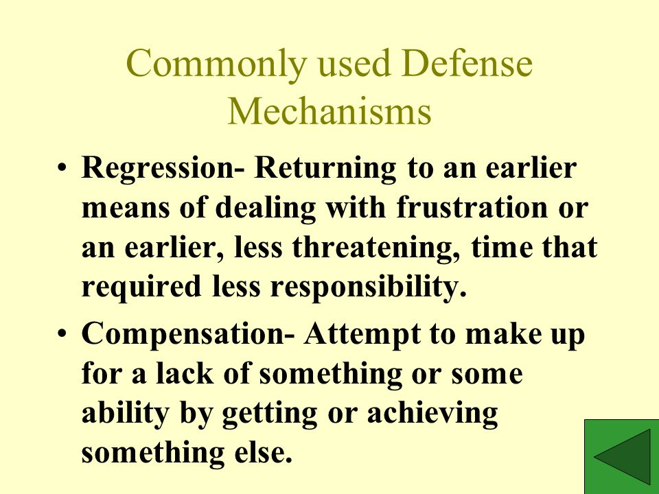 Most Commonly used Defense Mechanisms Identification- Acting like or modeling someone's behavior.