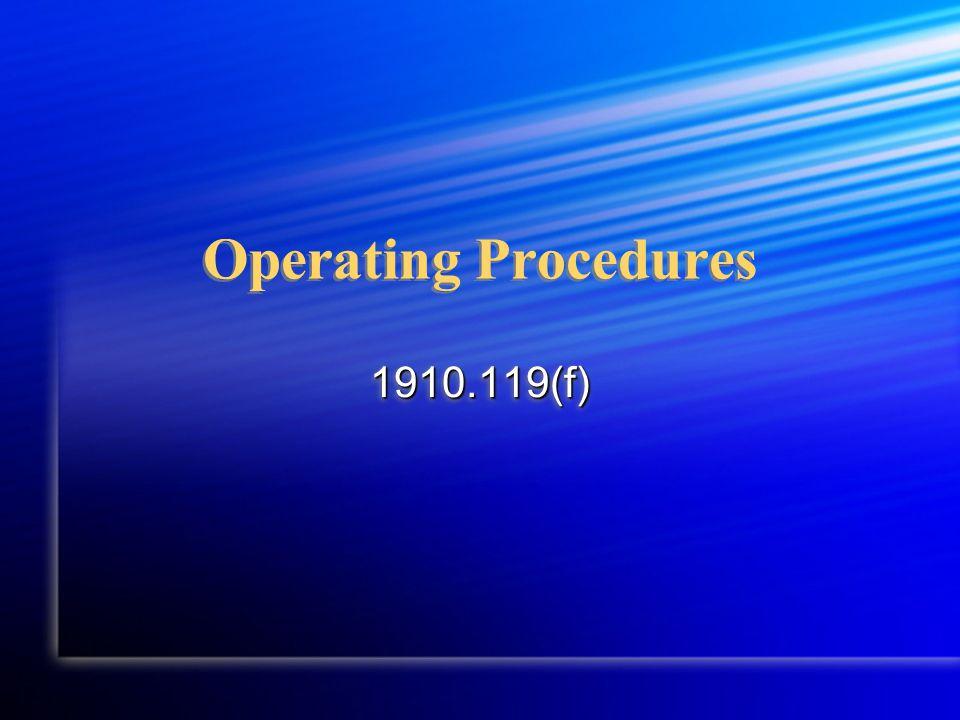 Operating Procedures 1910.119(f)1910.119(f)