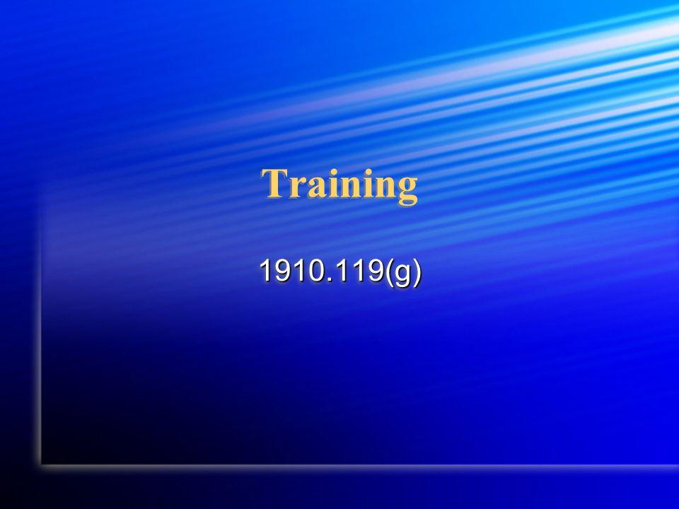 Training 1910.119(g)1910.119(g)