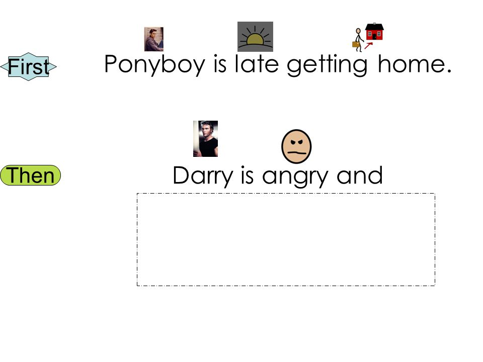 First Then Ponyboy is late getting home. Darry is angry and