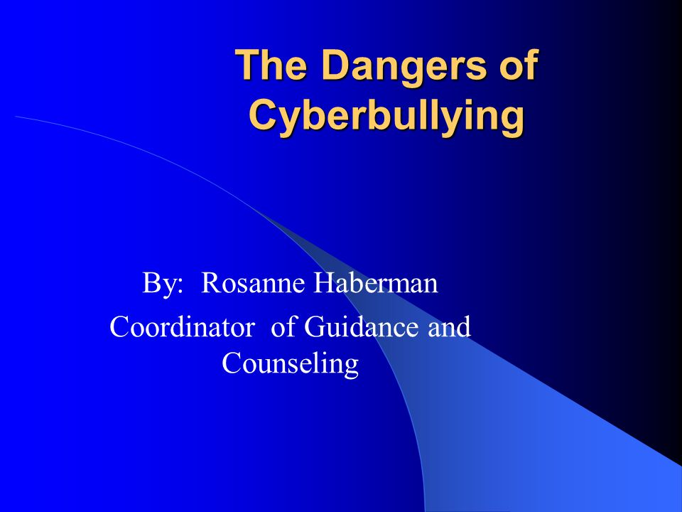 What is Cyberbullying Cyberbullying involves the use of information and communication technologies such as e-mail, cell phone and pager text messages, instant messaging (IM), defamatory personal Web sites, and defamatory online personal polling Web sites, to support deliberate, repeated, and hostile behavior by an individual or group, that is intended to harm others. – Bill Belsey