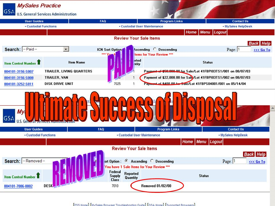 47 Ultimate Success of Disposal