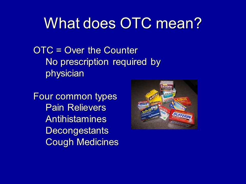 What does OTC mean.