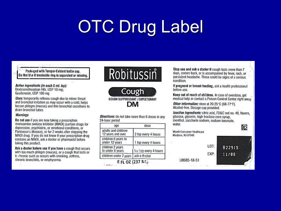 OTC Drug Label