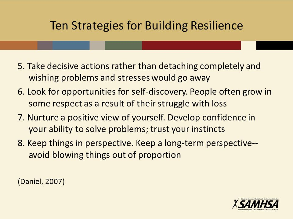 Ten Strategies for Building Resilience 5.