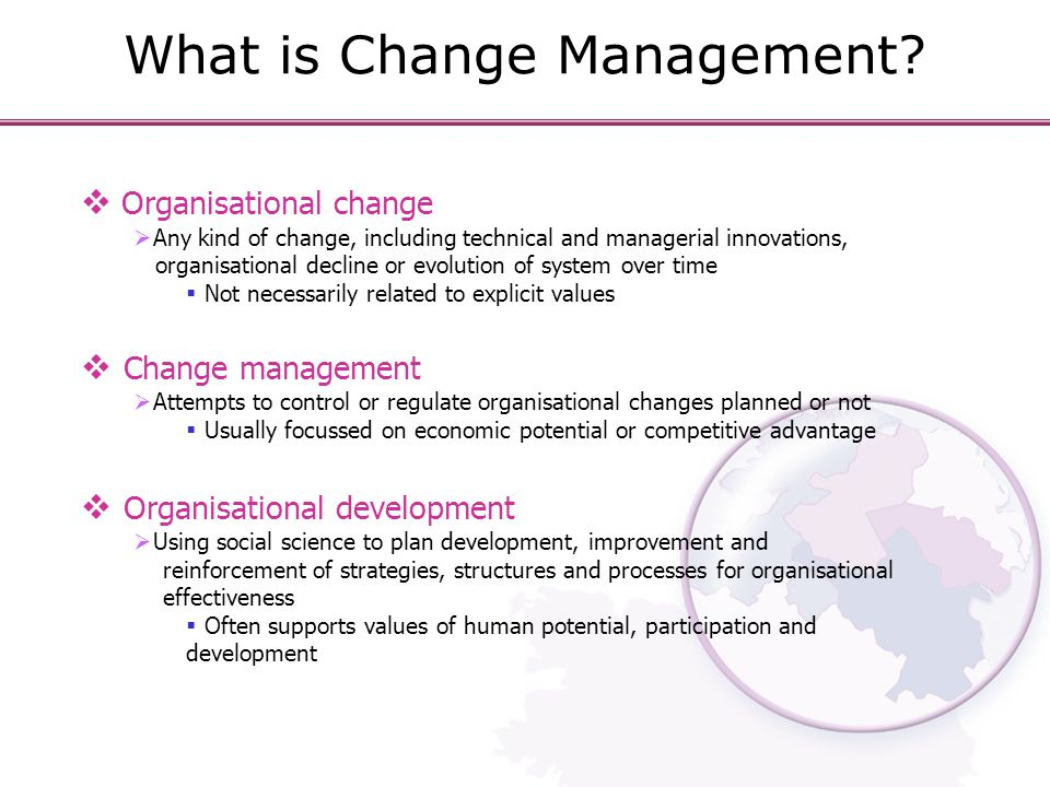 What is Change Management.