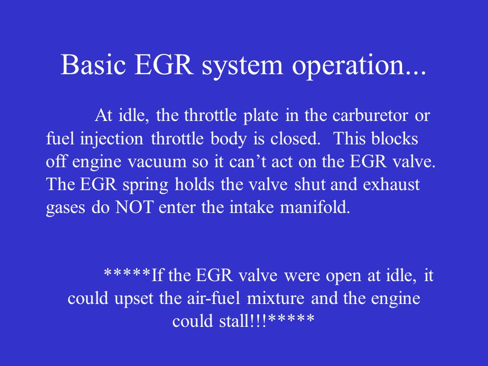 What's the valve designed to do? Control the exhaust flow into the intake manifold... SEE THE PHOTO!!!