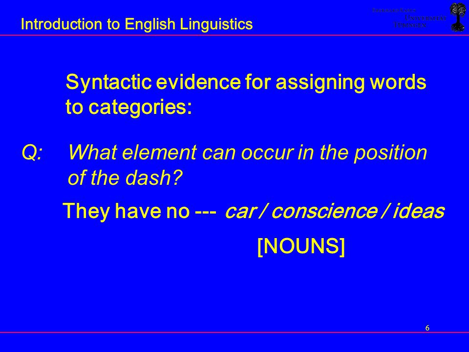 47 Introduction to English Linguistics Clauses containing complementisers SPEAKER A:What are you saying.