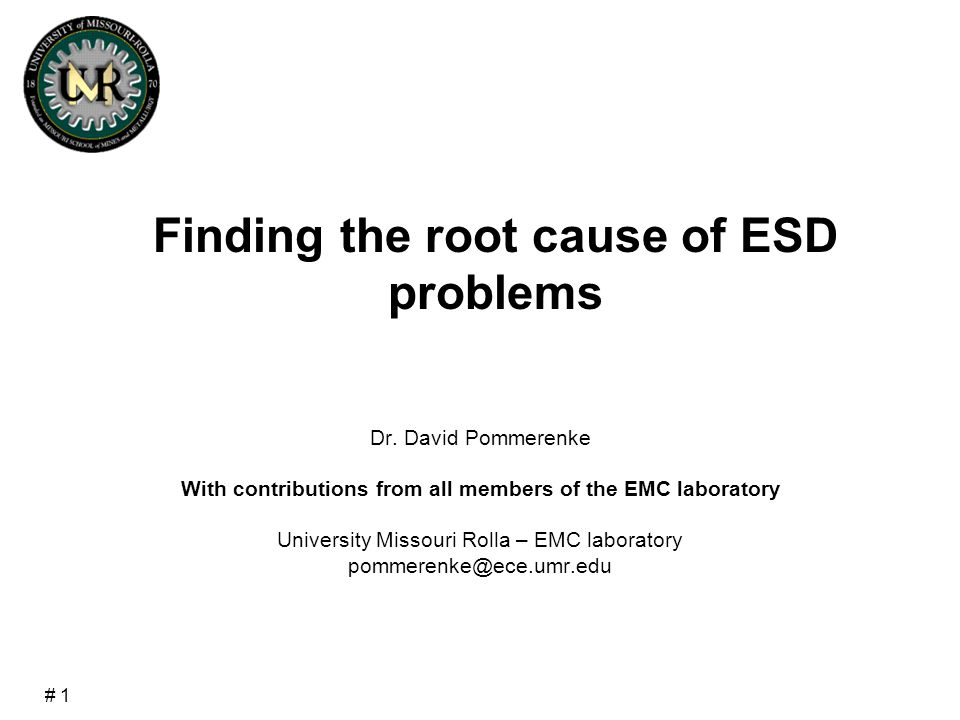 # 2  ESD is combines many tests in one test  ESD failure analysis  Susceptibility scanning  Voltage in traces during ESD testing Content