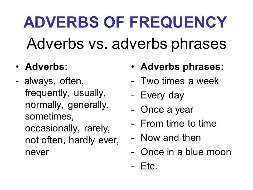 Adverbs vs.