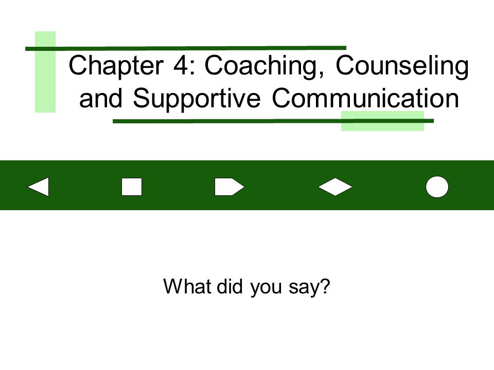 Copyright © 2002, Prentice Hall 2 Objectives Differentiate between coaching and counseling problems Avoid defensiveness and disconfirmation in interpersonal communication Improve ability to apply principles of supportive communication Improve work relationships by using personal management interviews