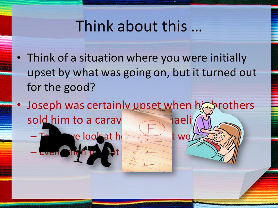 Listen for Joseph's very bad day.