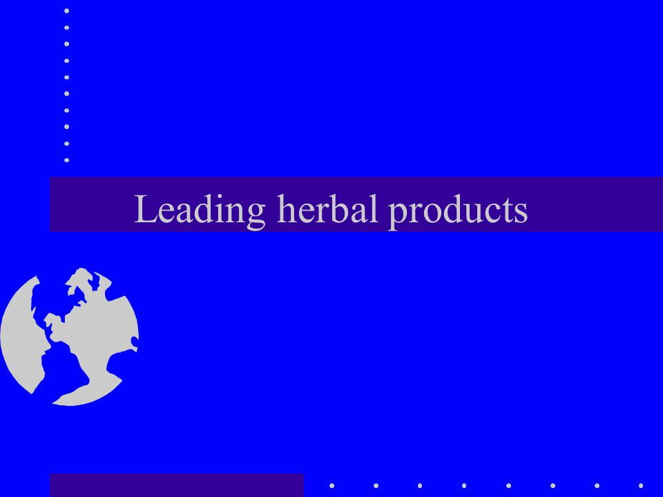 Leading herbal products