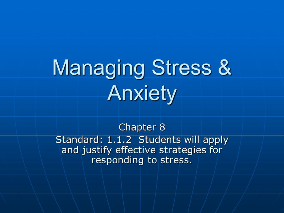 Essential Question-I Can What is stress.
