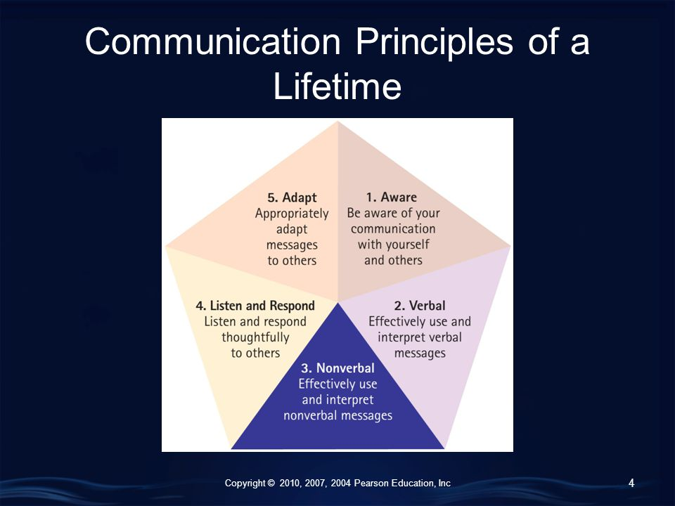 Copyright © 2010, 2007, 2004 Pearson Education, Inc Communication Principles of a Lifetime 4