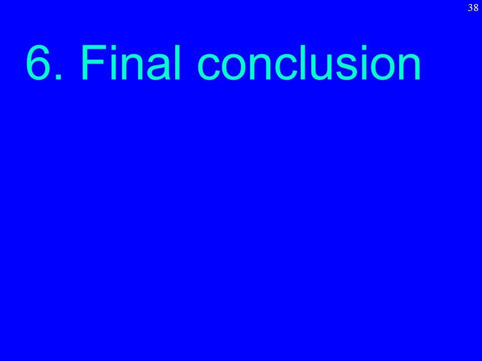 6. Final conclusion 38