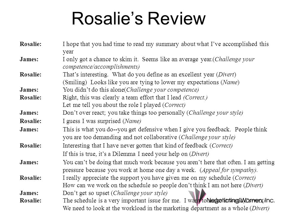 Rosalie's Review Rosalie:I hope that you had time to read my summary about what I've accomplished this year James:I only got a chance to skim it.