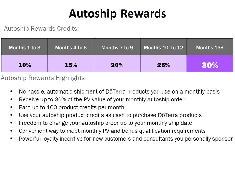 Autoship Rewards