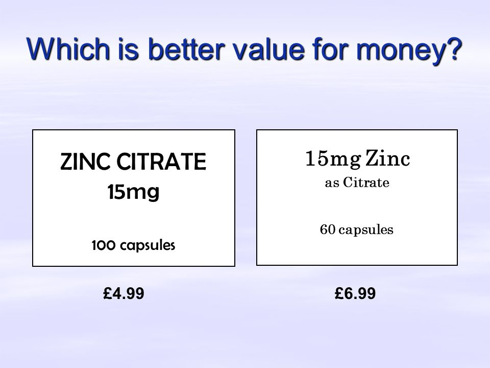 Which is better value for money.