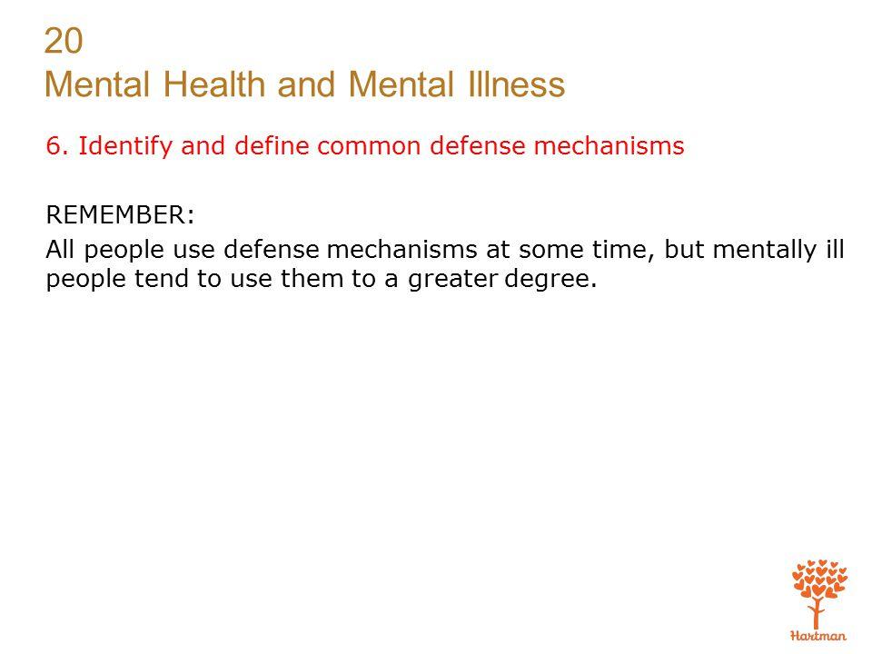 20 Mental Health and Mental Illness 6.