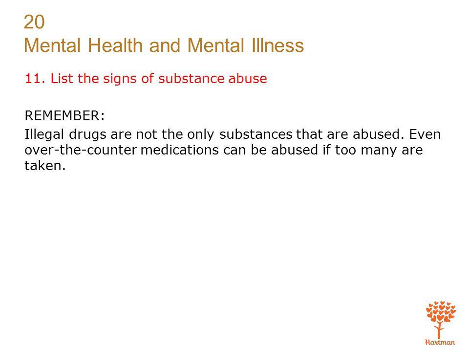 20 Mental Health and Mental Illness 11.