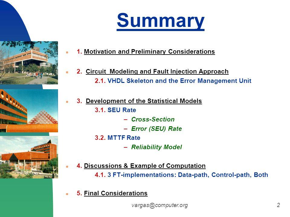 vargas@computer.org2 Summary 1. Motivation and Preliminary Considerations 2.