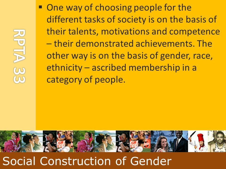  One way of choosing people for the different tasks of society is on the basis of their talents, motivations and competence – their demonstrated achi
