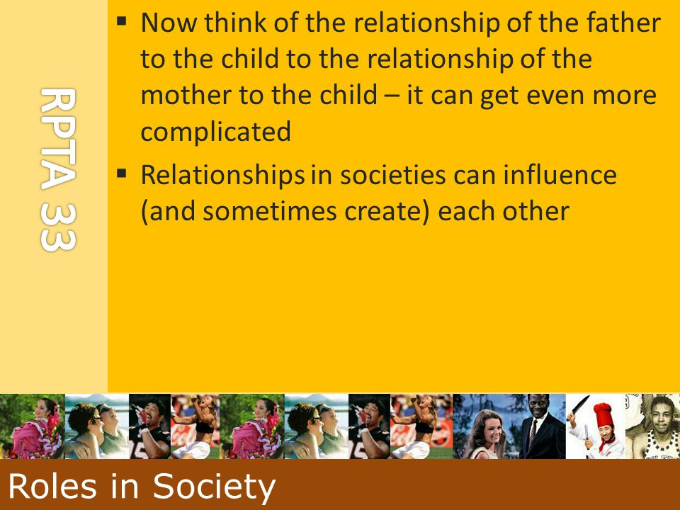  Now think of the relationship of the father to the child to the relationship of the mother to the child – it can get even more complicated  Relatio