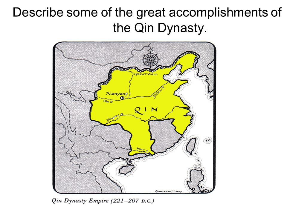 Describe some of the great accomplishments of the Qin Dynasty.