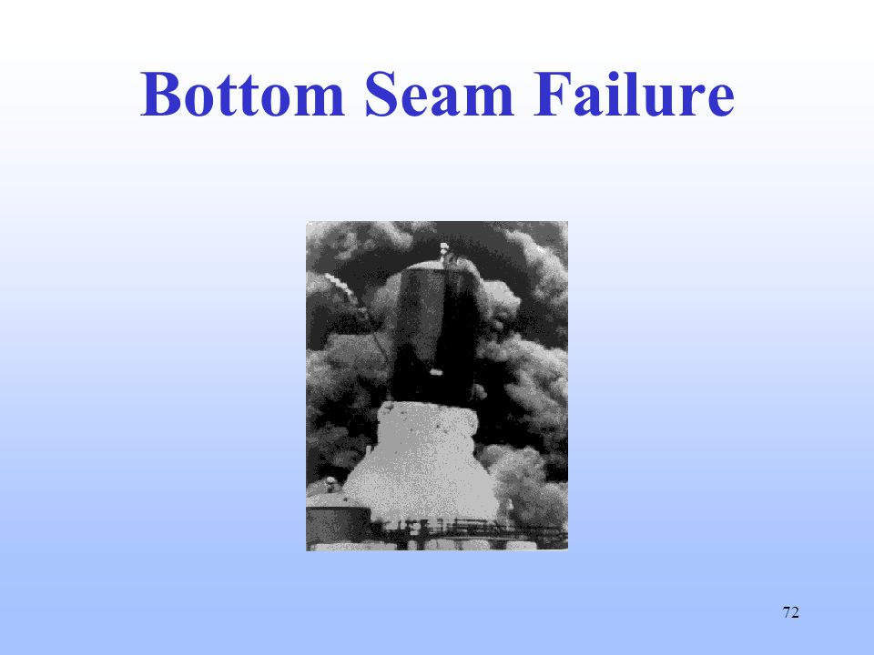 72 Bottom Seam Failure