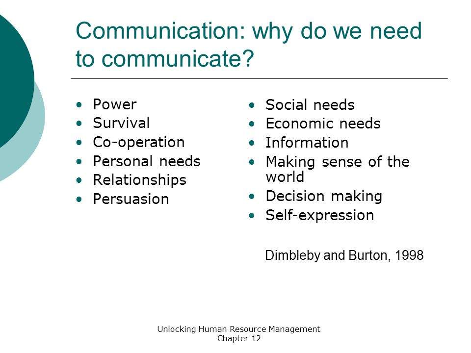Types of communication Synchronous: happening at the same time (e.g.