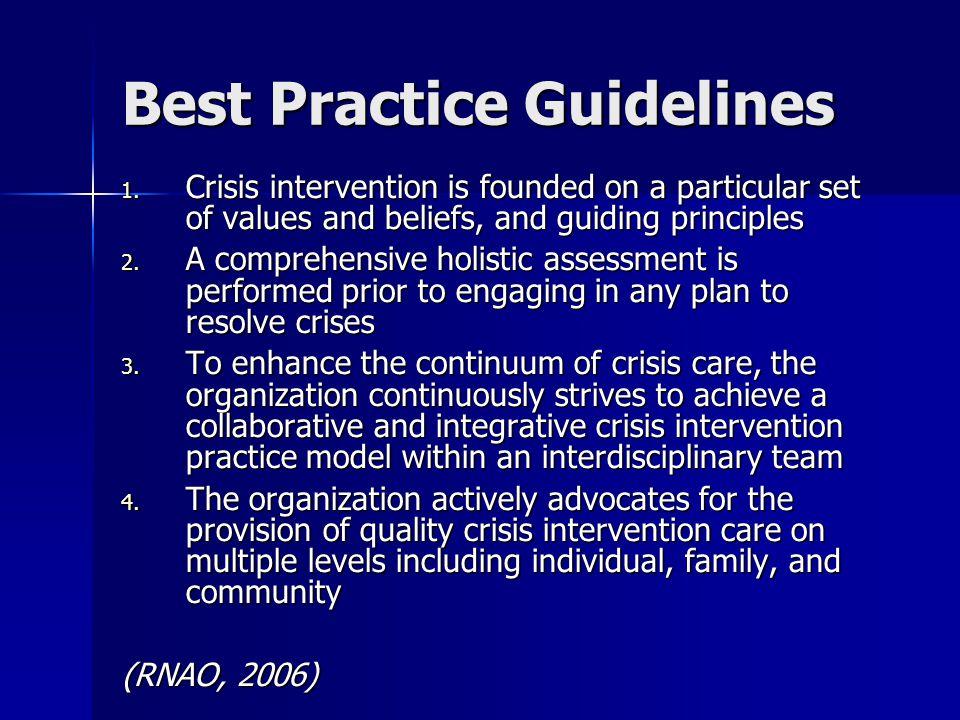 Best Practice Guidelines 1.