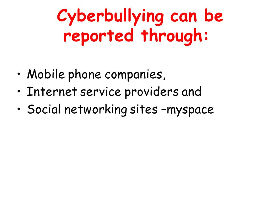 The Anti-Cyberbullying Code Always respect others.