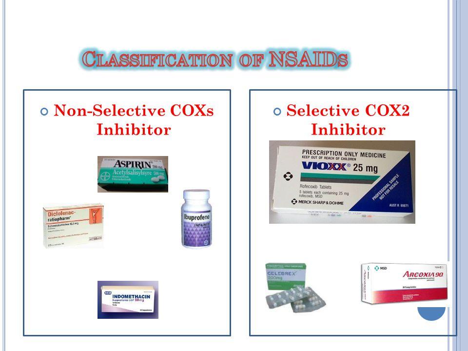 Non-Selective COXs Inhibitor Selective COX2 Inhibitor