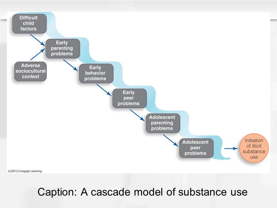 Caption: A cascade model of substance use