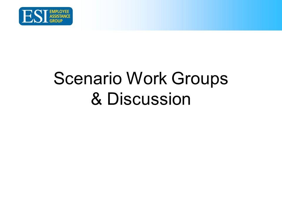 Scenario Work Groups & Discussion