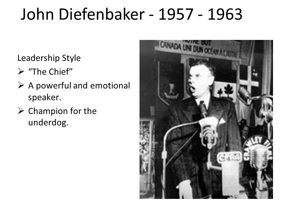 Leadership Style  The Chief  A powerful and emotional speaker.