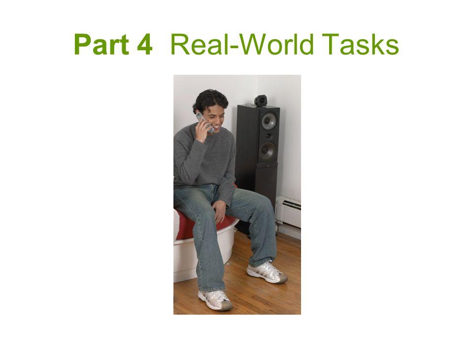 Part 4 Real-World Tasks