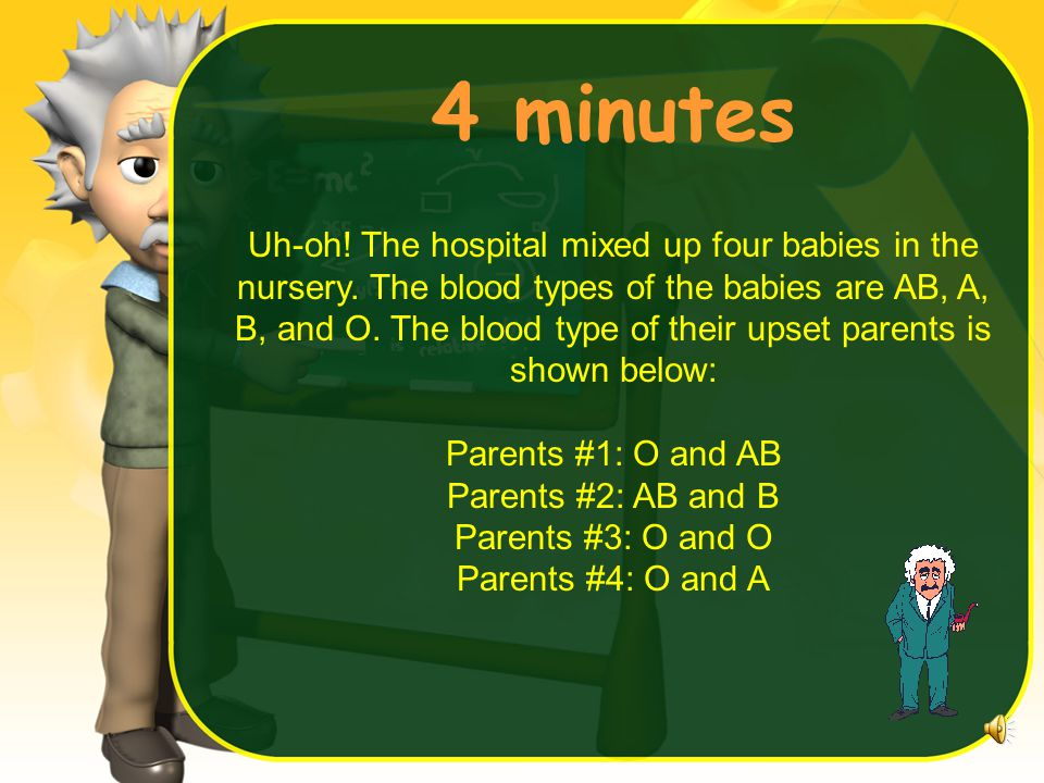 4 minutes Uh-oh.The hospital mixed up four babies in the nursery.