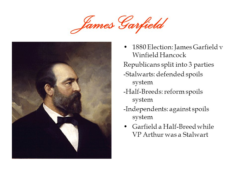 Rutherford Hayes Against Spoils System He began to reform the Civil Service- Gov non-elected workers He strengthened the Gov and weakened the Republicans