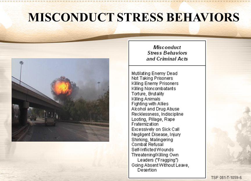 TSP 081-T-1059-7 COSR STRESS BEHAVIORS